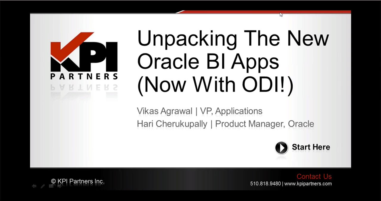 PT 1: OBIA 11g Overview [Unpacking The New Oracle BI Apps (Now With ODI!)]
