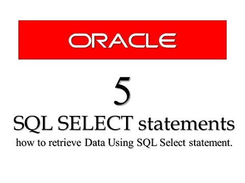 Oracle Database11g tutorials 5:  how to retrieve Data Using SQL Select statement || SQL tutorials