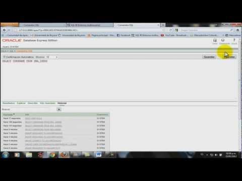"""Tutorial Sentencias SQL Oracle Database 10g """"Creación de usuario con privilegios"""""""