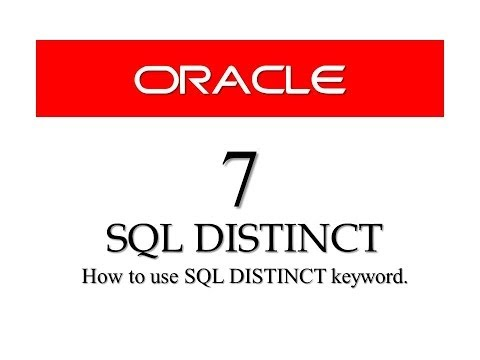 Oracle Database11g tutorials 7 | |SQL DISTINCT keyword || SQL tutorials
