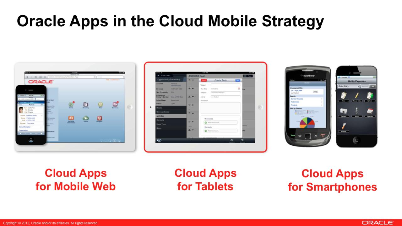 Oracle Apps Cloud Mobile Launch
