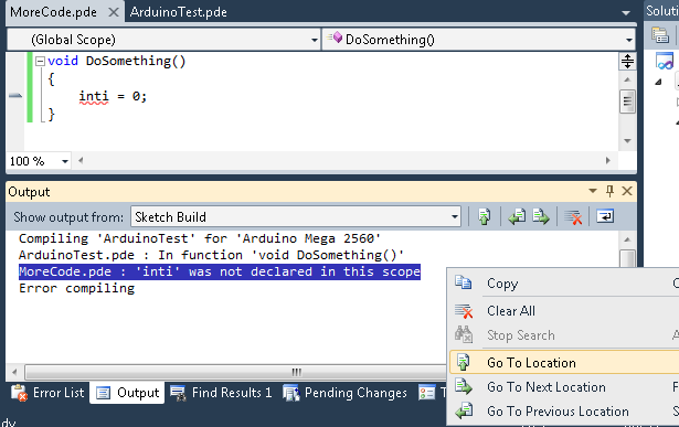 A complete Arduino development system for Visual Studio 2008 and