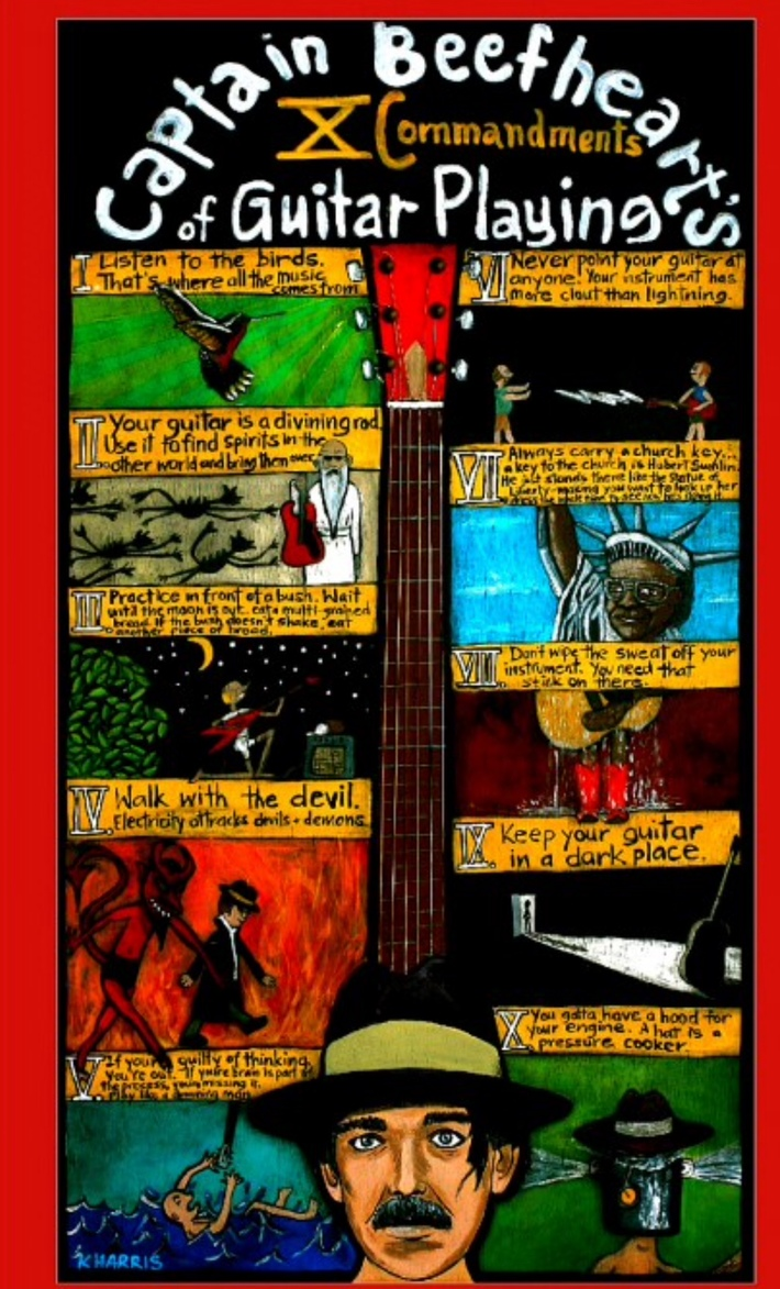 Captain Beefheart's 10 Commandments of Guitar Playing