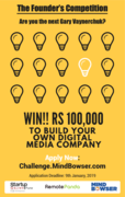 The Founder's Competition invites students to build their own company !!