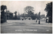 Entrance to Aleandra Park from the Bottom of Muswell Hill, c1905