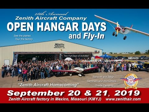 Corvair College at Zenith Open Hangar Days and Homecoming