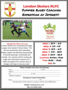 London Skolars Summer rugby coaching