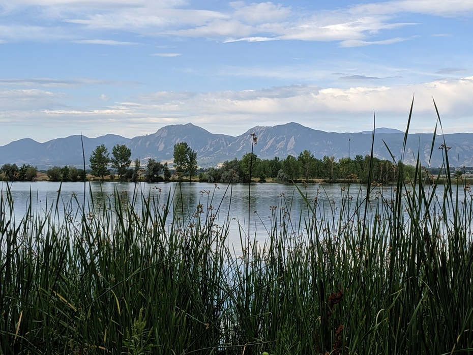 Coot Lake and the Flatirons