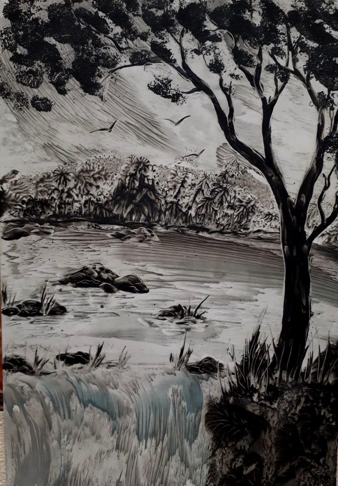 """""""Monochrome landscape"""". A4"""