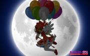 Sakura Kinomoto with balloons