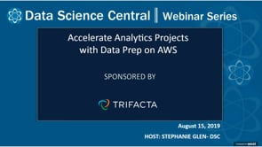 DSC Webinar Series: Accelerate Analytics Projects with Data Prep on AWS