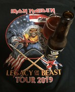 Iron Maiden front row seats, $10 parking lot shirt and some Railbenders. Buffalo, Ny. 8-13-2019