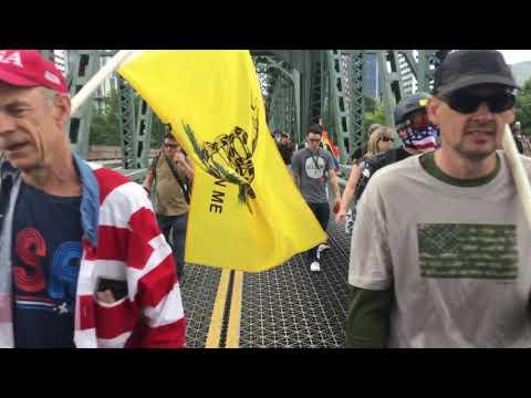 End domestic terrorists. Portland Oregon .