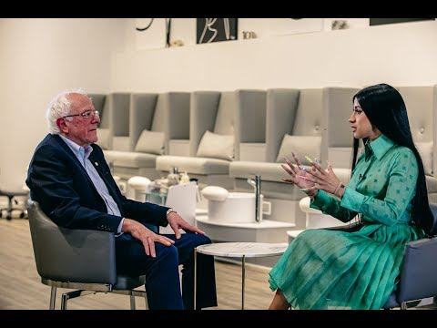 BERNIE SANDERS MET WITH CARDI B IN A NAIL SALON TO DISCUSS HIS POLITICAL PLATFORM