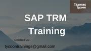 SAP TRM Training | SAP Treasury and Risk Management Online Training