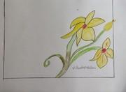 yello flower with green stem