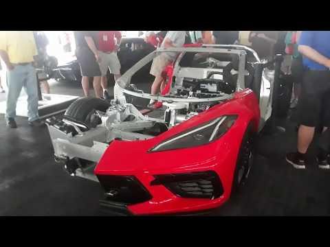 An Inside Look At the 2020 Corvette Stingray C8 Cut Away At the 2019 Corvettes At Carlisle