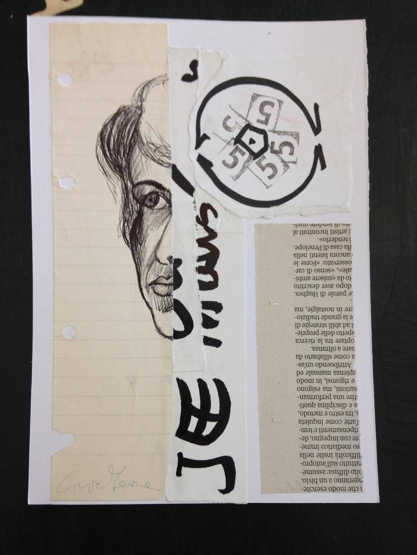 "Cinzia Farina - ""Mois/Nous"" per zine n. 1 ""Think Global/Act Local"", a cura di Hans Braümuller, Hamburg, Germany"
