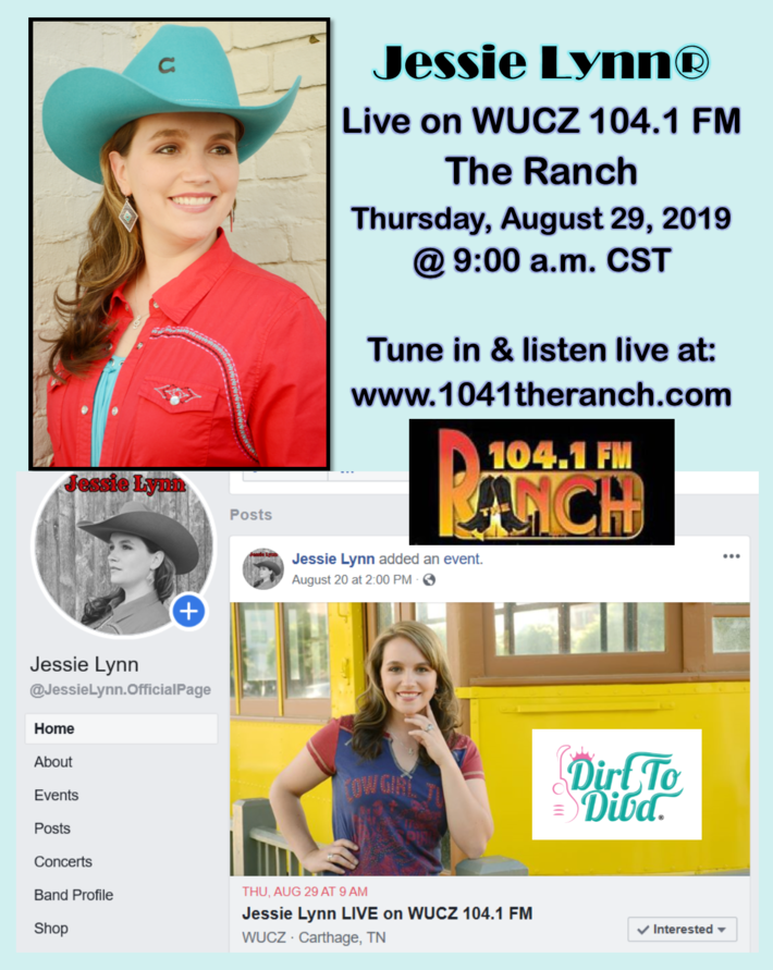 Jessie Lynn Live on WUCZ 104.1 FM The Ranch