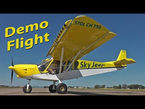 Demo flight: Zenith STOL CH 750 light sport utility kit aircraft