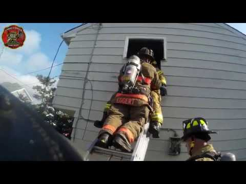 Firefighter Training: Window to Door Conversion, Forcible Entry, Flowing Water, & FAST Rescue