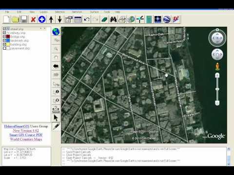 GIS Software Make Google Earth a Background of Smart Map Editor, Convert GIS Shape to HTML Google