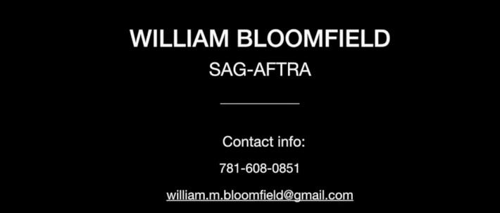 William Bloomfield_ REEL 2019_1.15 min