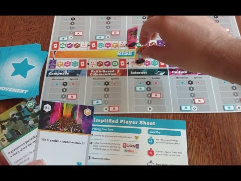 """Rise Up: The Game of People & Power"" - everyone wins or loses together in this cooperative game"