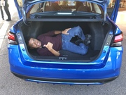 Me in the Versa trunk