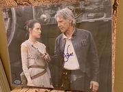 Daisy Ridley and Harrison Ford