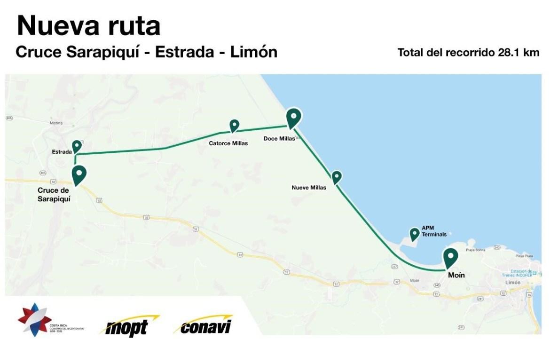 CONAVI construirá nueva vía de 28.1 kilómetros entre Limón y Matina / COSTA RICA