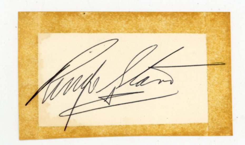 Ringo Starr Autograph From 1963/4