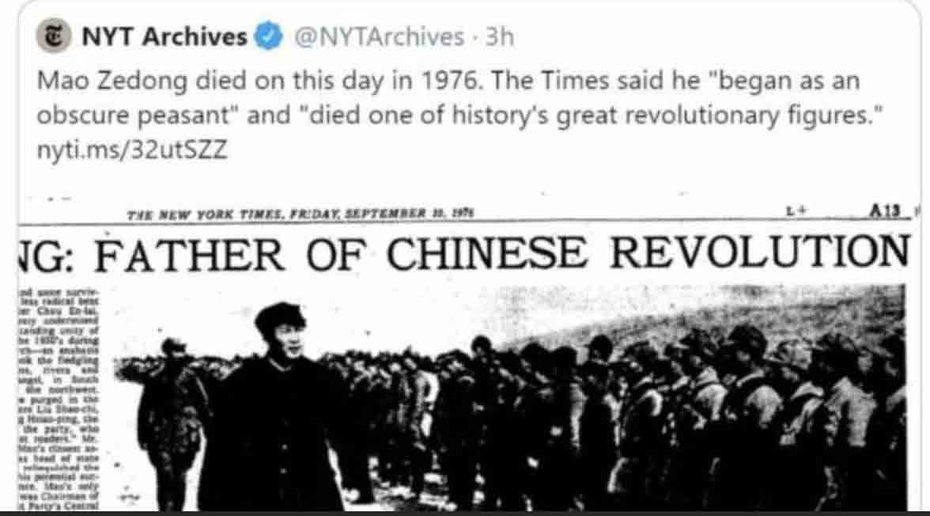 Celebrating Mao Sept 9th