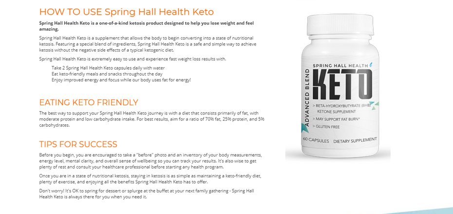 Spring Hall Health Keto