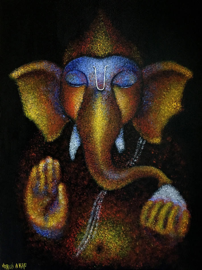 Acrylic Painting - Lord Ganesha