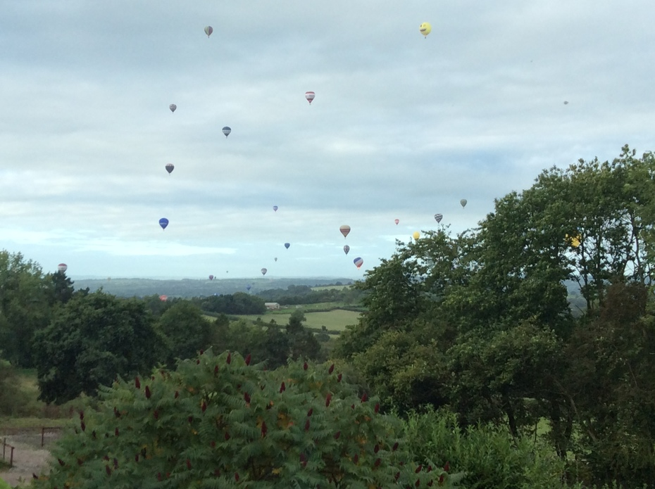 Balloons over Pen Selwood