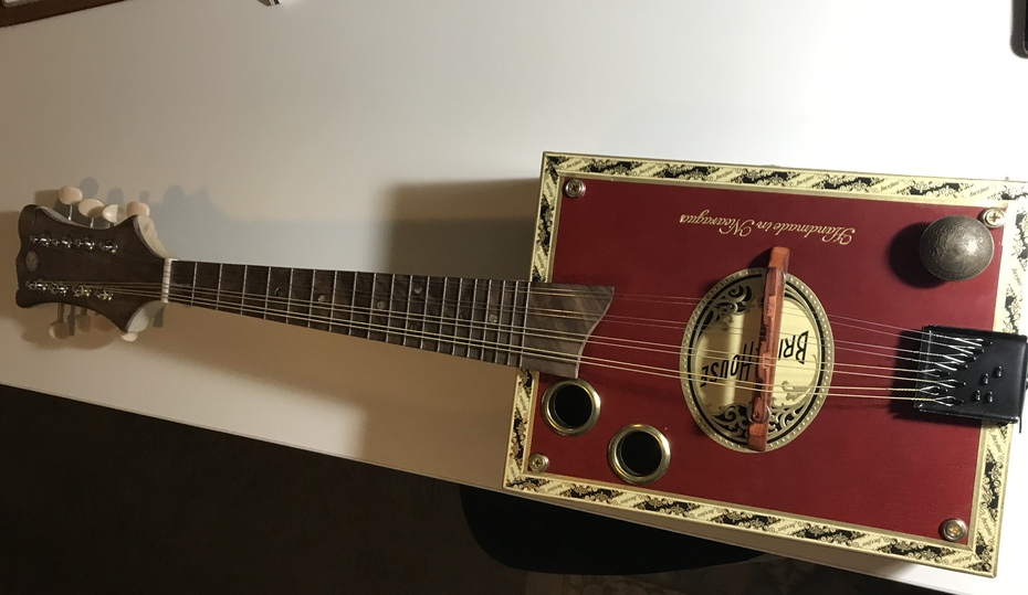 My latest build, 8 string mando, brick house red box