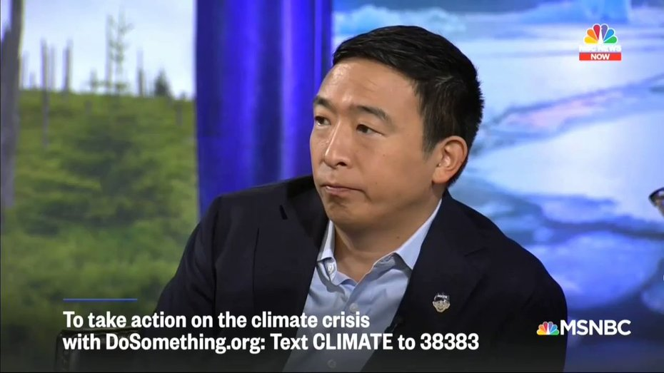 "@AndrewYang says beef should include the cost of cows' ""emissions"" so that it becomes so expensive people stop eating it."