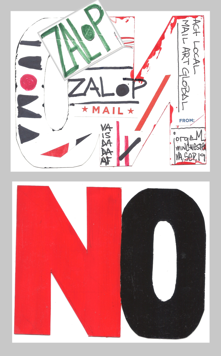 "Jorge Martin Zalop Envelope+Fluxus ""NO""-Object"