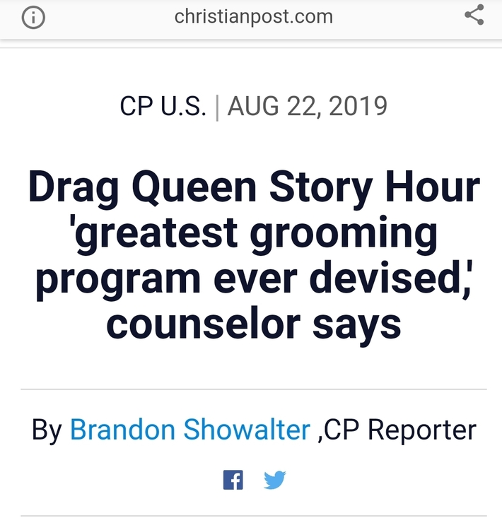 Drag Queens and Pedophilia