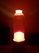 My second attempt (Lava lamp with paraffin)