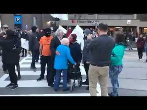 Antifa Harasses Elderly Woman