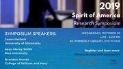 Spirit of America Research Symposium