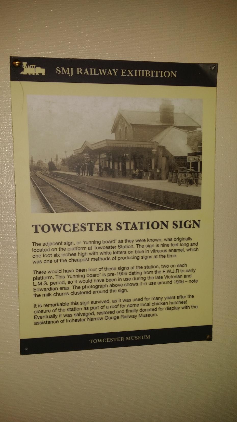 TOWCESTER STATION SIGN DETAIL.
