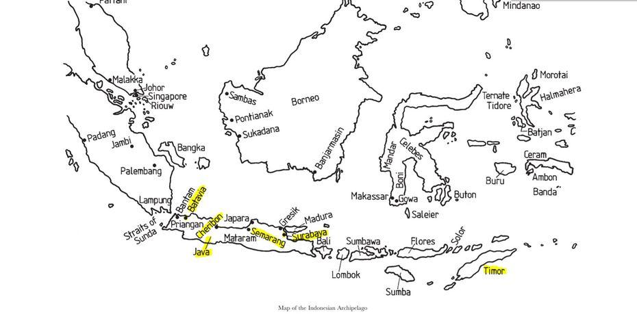 Indonesian Archipelago  map