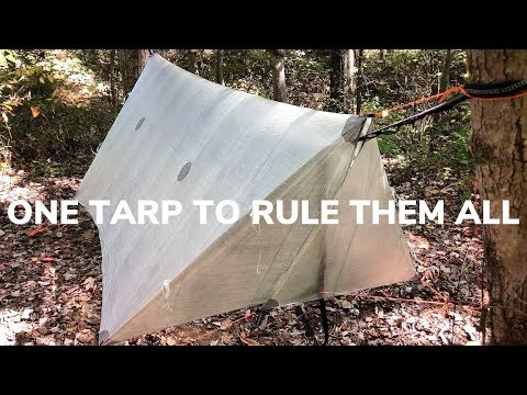 The Best Ultralight Hammock Tarp With Doors - Weighs 7.8 Ounces
