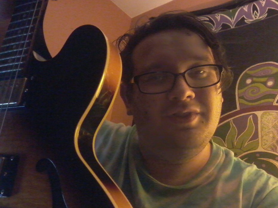 me and my trusty guitar