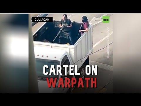 Mexian cartel gunmen launch full-scale war to release El Chapo's son