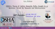 "OSHA's ""Focus 4"" Safety Hazards"
