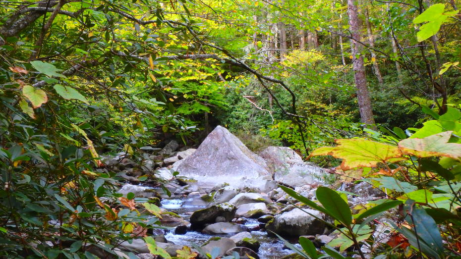 Pyramid shaped rock on Big Creek